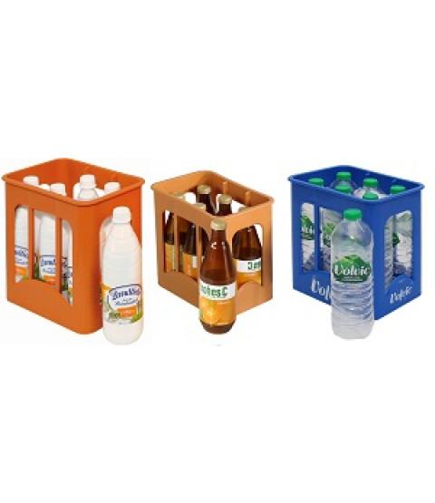 Små flasker i kasser