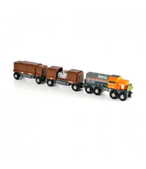Togsæt med godsvogne