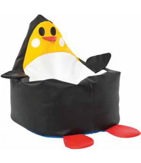 Sækkestol Sort pingvin