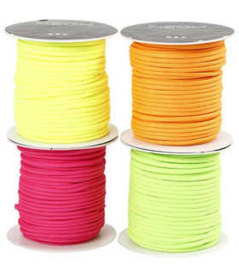Imiteret faldskærmsline, tykkelse 4 mm, 4x40 m, neonfarver , ass. farver