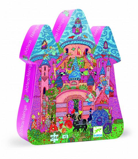 Silhuetpuslespil - Fe slottet, 54 brikker