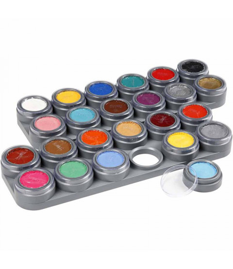 Grimas Ansigtsmaling - Sminkepalette, 24x2,5 ml, ass. farver 24 frv. a 2,5 ml, ass. farver