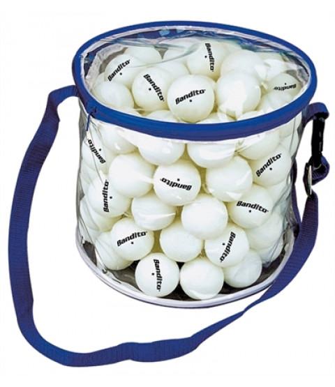 100 stk bordtennisbolde i taske