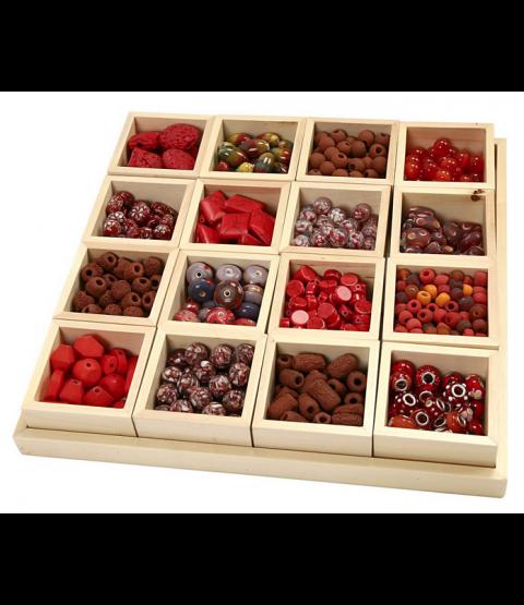 Luksus Perleharmoni, Rød harmoni, inkl. sættekasse med 16 rum