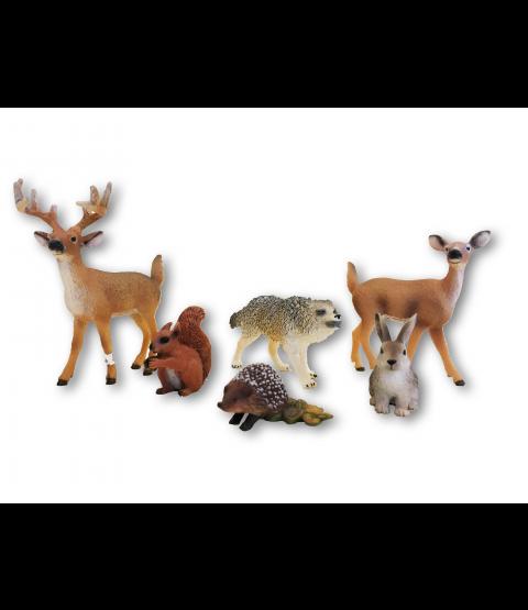 Skovens dyr, Schleich (7 stk)