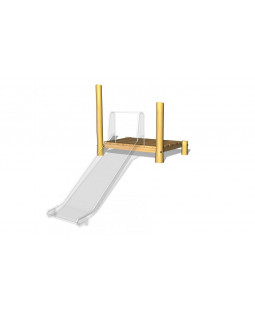 Rutschebane platform til bred rutschebane