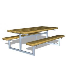 Mini bord/bænkesæt, Galvaniseret, Douglas