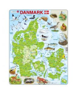 Puslespil, Danmarkskort, 66 Brikker