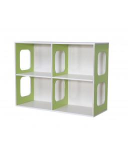 Vægreol UNIK Design med 4 rum - Birkefiner