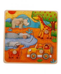 Safari knoppuslespil