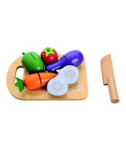 Skærebræt med grøntsager