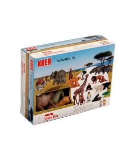 KREA Vilde dyr 21 stk.