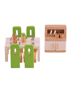 Spisestuemøbler til dukkehus