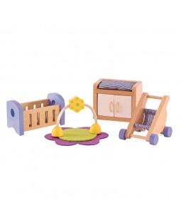 Babyværelsesmøbler til dukkehus