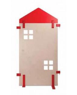 By med små vinduer