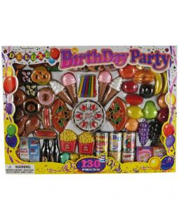 Legemad fødselsdagsfest, 130 dele