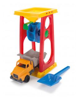 Sandmølle + lastbil i net H:30 cm