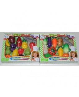 Legemad - Frugt og grønt m/ velcro
