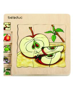 Lag på lag puslespil æble