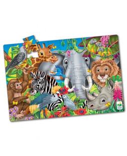 Jumbo Gulvpuslespil - Verdens dyr