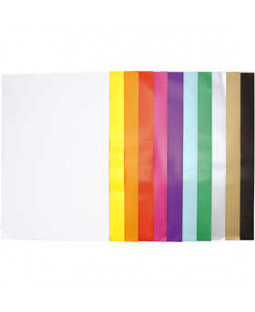 Glanspapir, ark 32x48 cm, 80 g, 11x25 ark, ass. farver , ass. farver