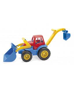 Traktor med grab og rendegraver L: 31 cm