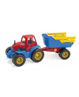 Traktor med hænger L: 42 cm