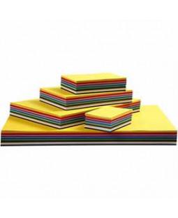 Creativ karton, A2+A3+A4+A5+A6, 180 g, 1800 ass. ark, ass. farver , ass. farver