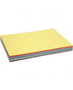 Creativ karton, A2 420x600 mm, 180 g, 300 ass. ark, ass. farver , ass. farver