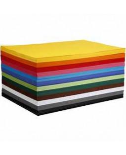 Kulørt karton, A2 420x600 mm, 180 g, 120 ass. ark