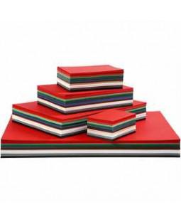 Julekarton, A2+A3+A4+A5+A6, 180 g, 1800 ass. ark, ass. farver , ass. farver