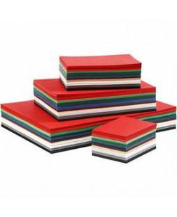 Julekarton, A3+A4+A5+A6, 180 g, 1500 ass. ark, ass. farver , ass. farver