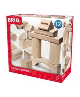 Brio byggeklodser natur, 50 stk.