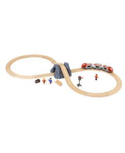 Togbane, startsæt m/tog-tilbehør