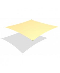 Solsejl kvadratisk 3,6 x 3,6 m