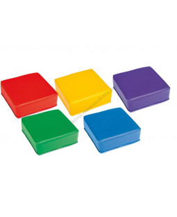 Sæt med firkantede puffer