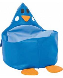 Sækkestole blå pingvin