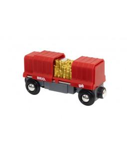 BRIO godsvogn med guld