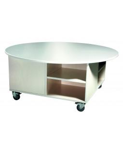Legebord med rund topplade