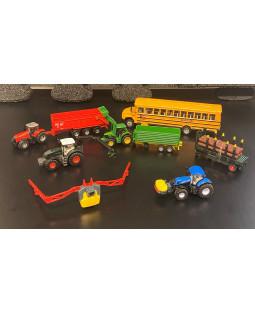 Siku sæt med landbrugskøretøjer og skolebus