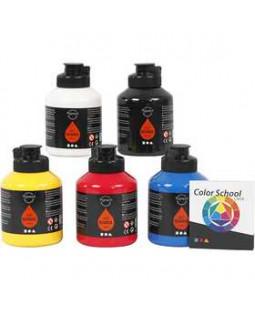 Pigment Art School, 5x500 ml, primærfarver , primær farver