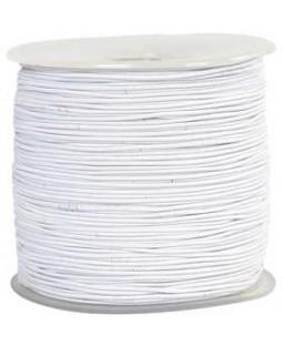 Elastiksnor, tykkelse 1 mm, 250 m, hvid
