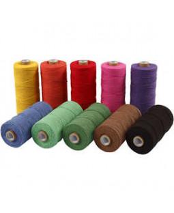 Knyttegarn, L: 320 m, tykkelse 1 mm, 10x250 g, stærke farver Tynd kvalitet 12/12, ass. farver