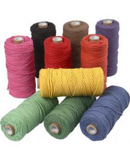 Knyttegarn, L: 120 m, tykkelse 2 mm, 10x250 g, stærke farver Tyk kvalitet 12/36, ass. farver