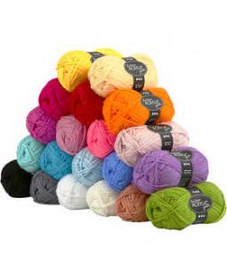 Fantasia Akrylgarn, L: 80 m, 20x50 g, ass. farver , ass. farver