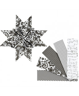 sorte og hvide stjernestrimler 40 strimler