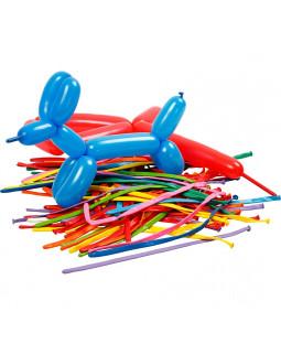 Balloner, L: 152 cm, ass. farver, modellér, 100stk.