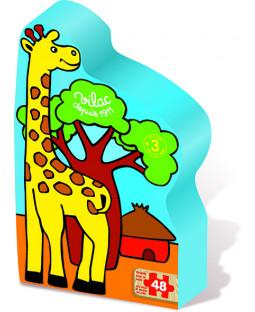 Silhuetpuslespil, Giraf, 48 brikker.