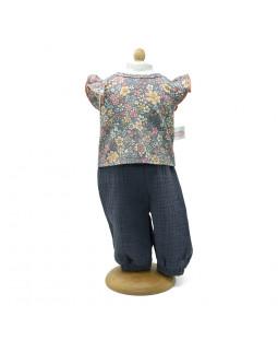 Bukser med blomstret bluse, 29-32 cm