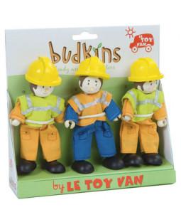 Budkins Byggemænd Dukkesæt